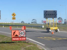 Road Work Jackson Road On Ramp Melbourne