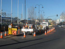 Road Work Young Street, Frankston Melbourne